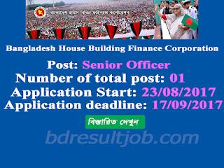 Bangladesh House Building Finance Corporation Senior Officer Job Circular 2017