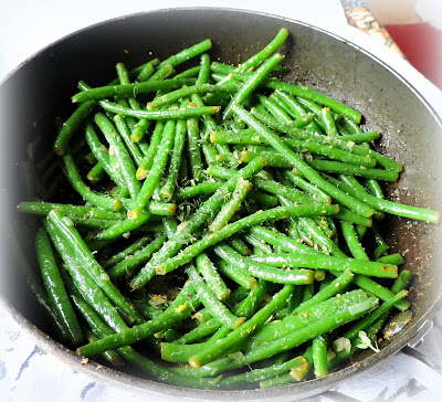 Green Beans with Shallots, Lemon & Thyme