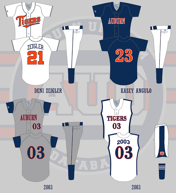 auburn softball uniform 2003