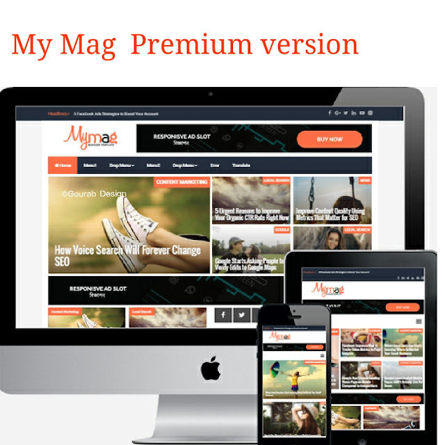 My mag news blogger template