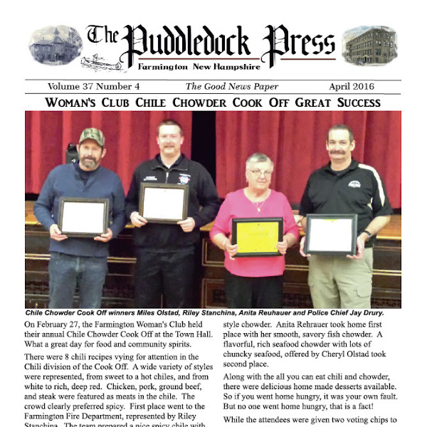 The April 2016 issue of the Puddledock Press is available now.
