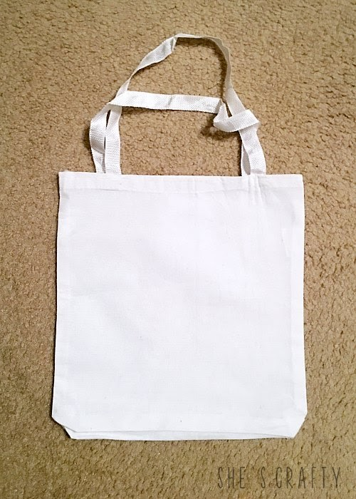 How to make a Flea Market Tote from a blank canvas tote