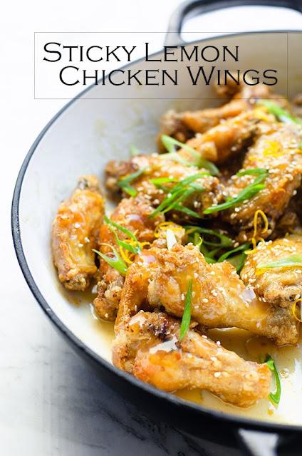 Sticky Lemon Chicken Wings image