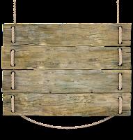 Placa de madeira com corda