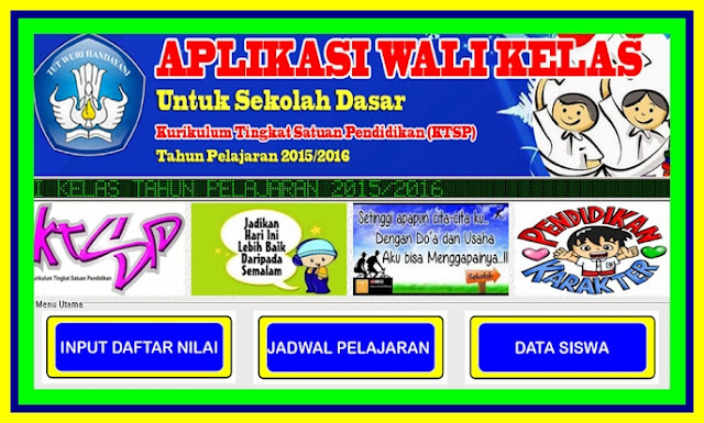 Download Kumpulan Aplikasi Wali Kelas Terbaru Versi 2017/2018