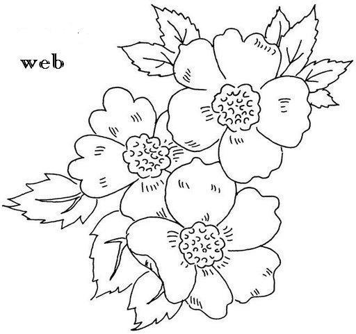 Dibujos De Flores Sobre Tela Imagui