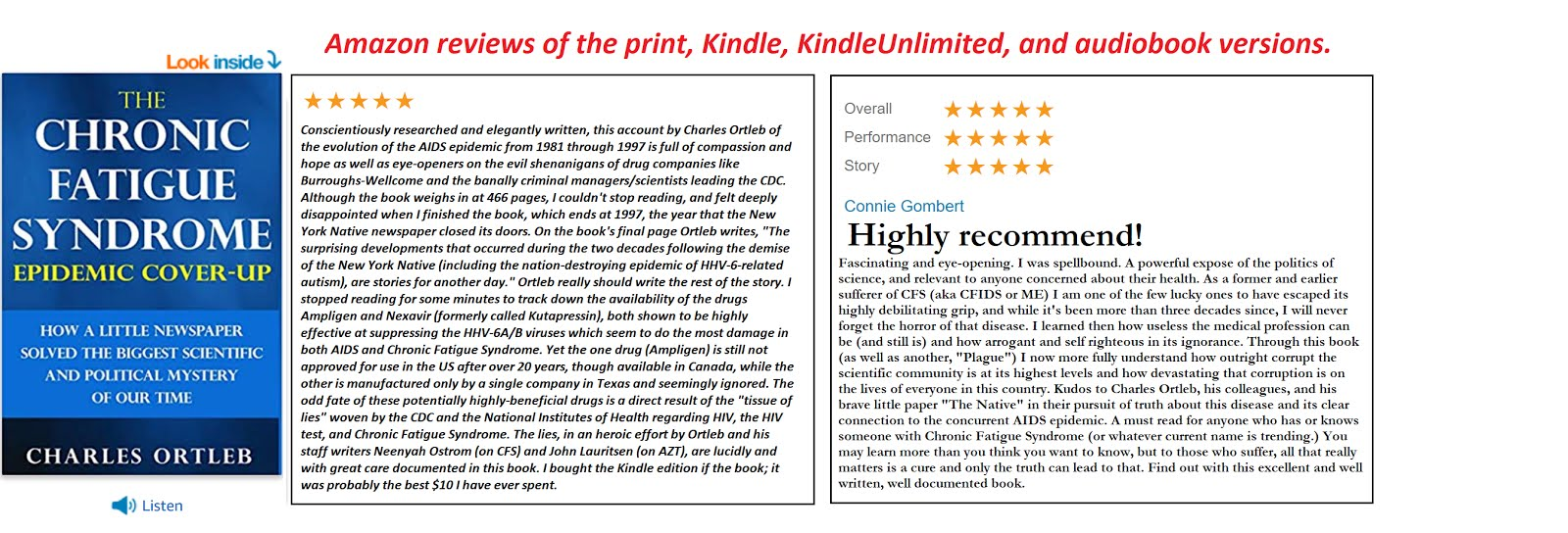Amazon new review cfs book 1