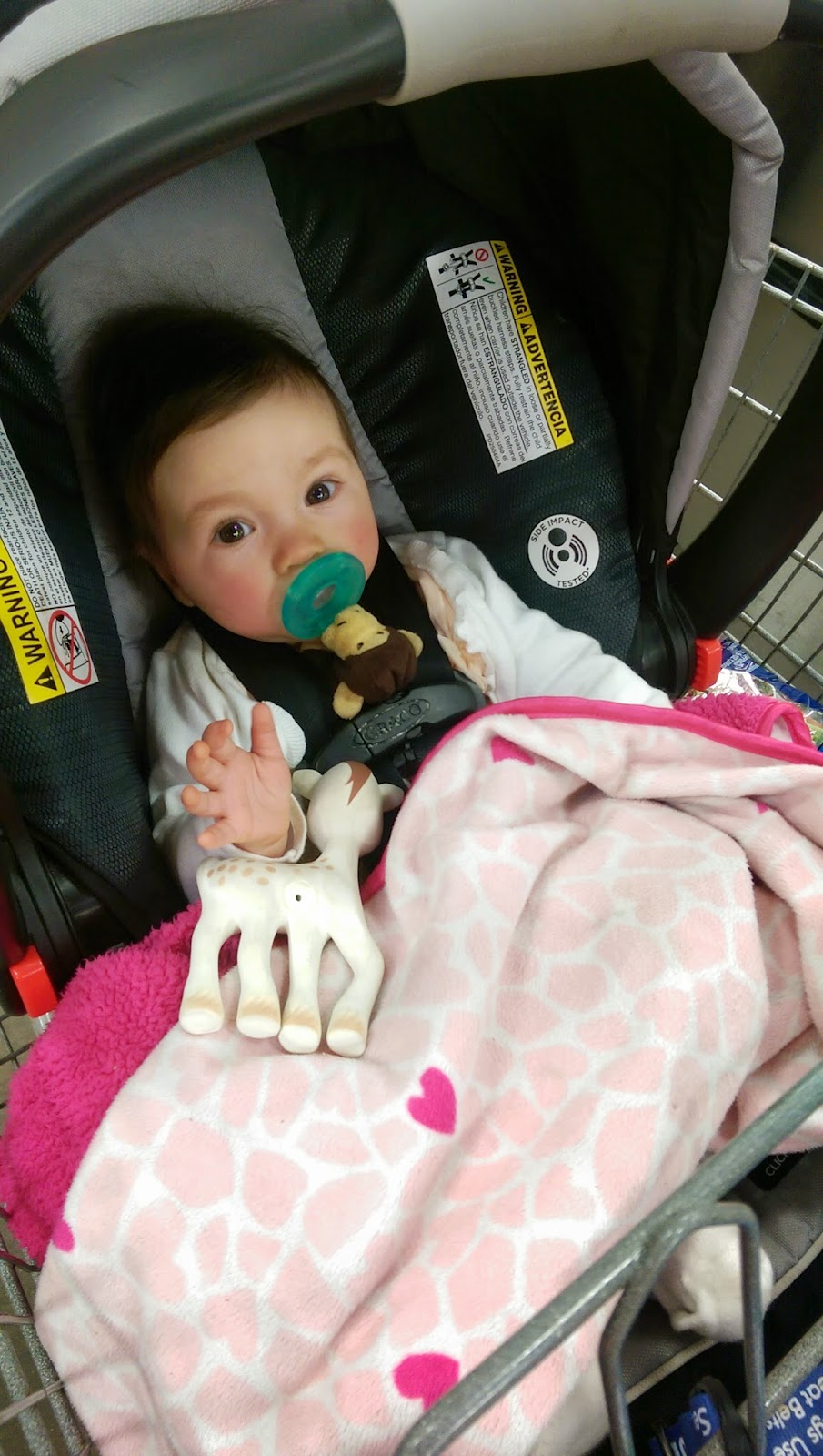 For Our Sams Club Trip Adalyn Enjoying Riding Around In Her Carseat