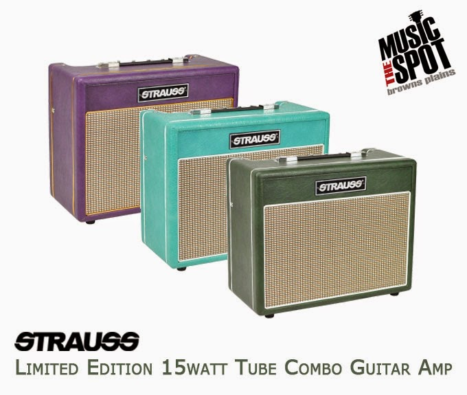 the music spot strauss limited edition 15watt tube combo guitar amp. Black Bedroom Furniture Sets. Home Design Ideas