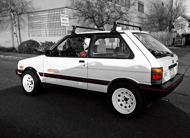 Subaru Justy, KAD, pierwsza generacja, 4x4, 4WD