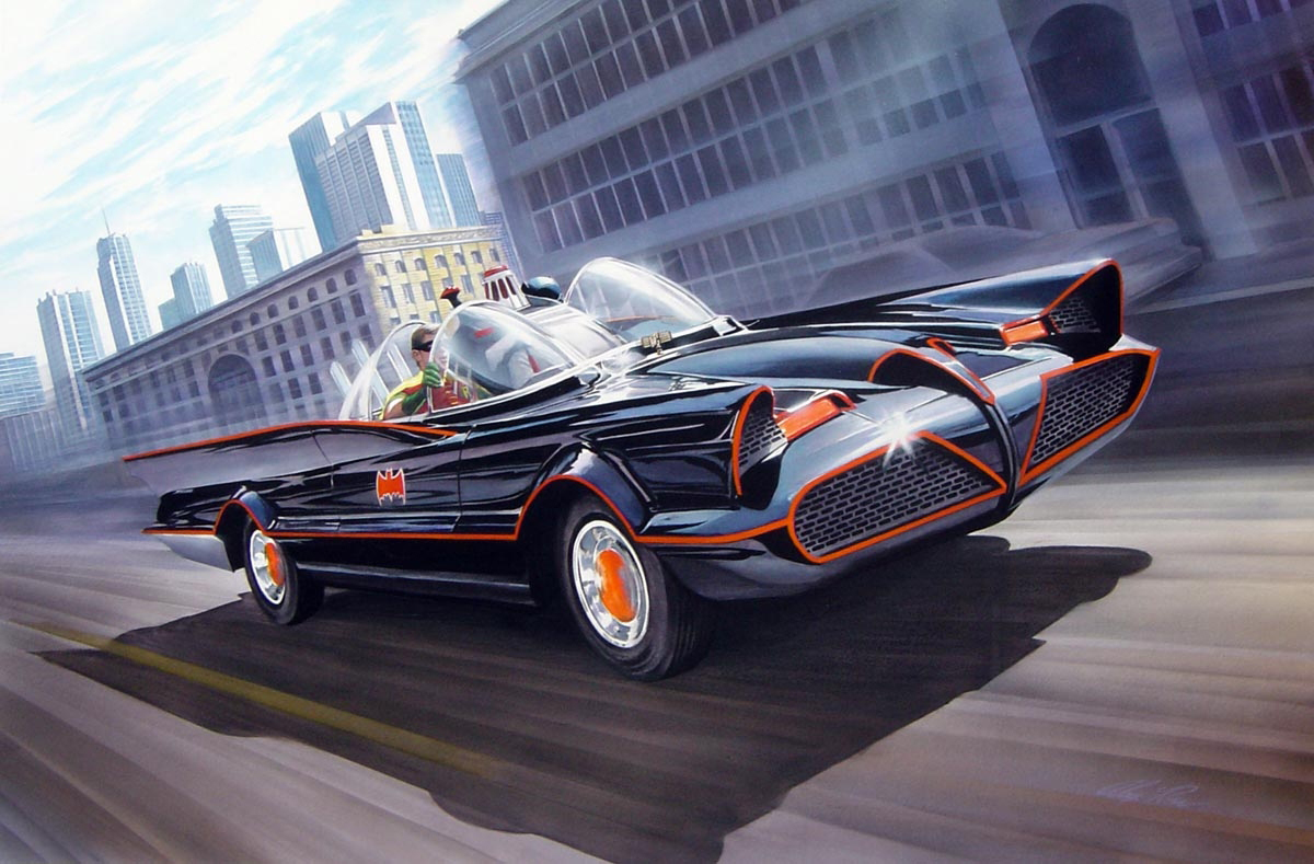 The Dork Review Alex Ross S Batmobile Painting