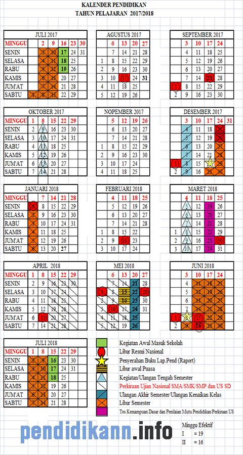 Kalender Pendidikan Tahun Ajaran 2017/2018