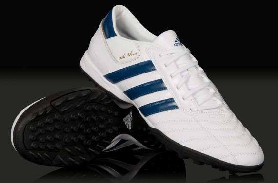 Luna terminado cama  Futsal And Soccer: Futsal Shoes adidas adiNOVA II TRX TF - White/Blue/Met  Gold