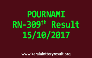 POURNAMI Lottery RN 309 Results 15-10-2017