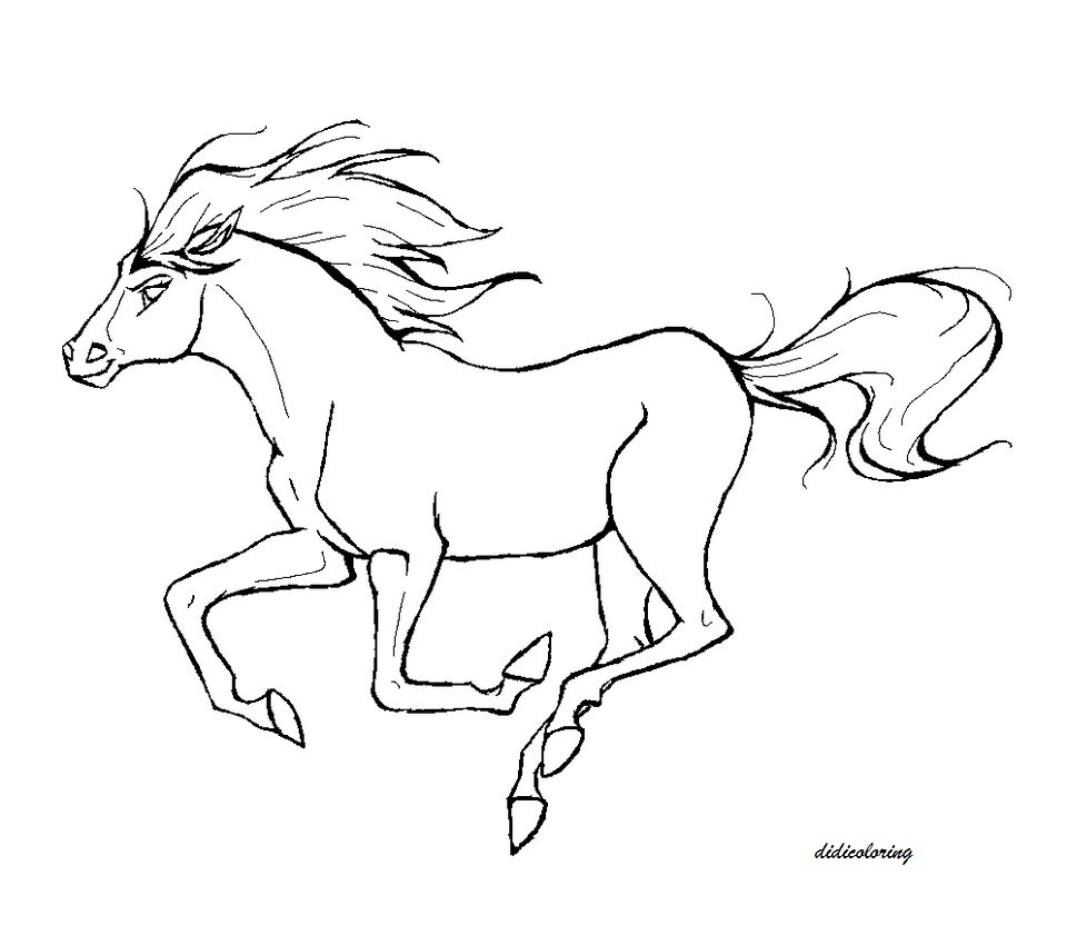 Spirit The Movie Horse Colouring Pages - Coloring Home | 832x960