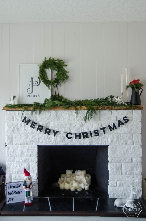 diy felt leather christmas garland