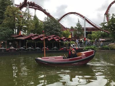 Boat ride at Tivoli Gardens, Copenhagen