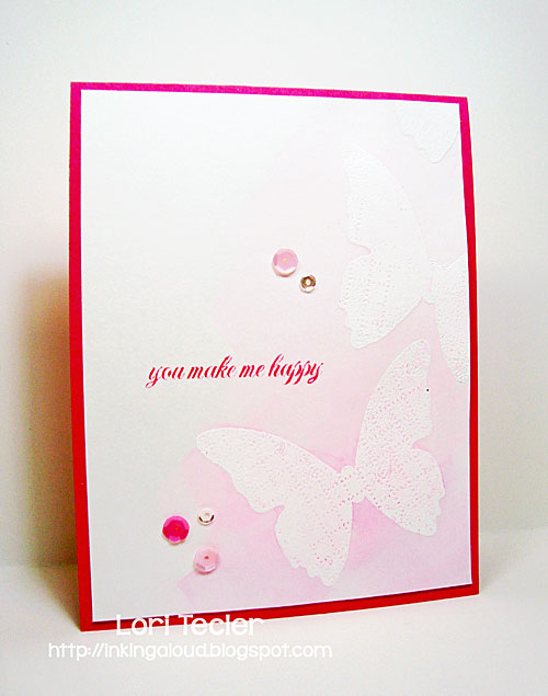 You Make Me Happy card-designed by Lori Tecler/Inking Aloud-stamps from Clear and Simple Stamps
