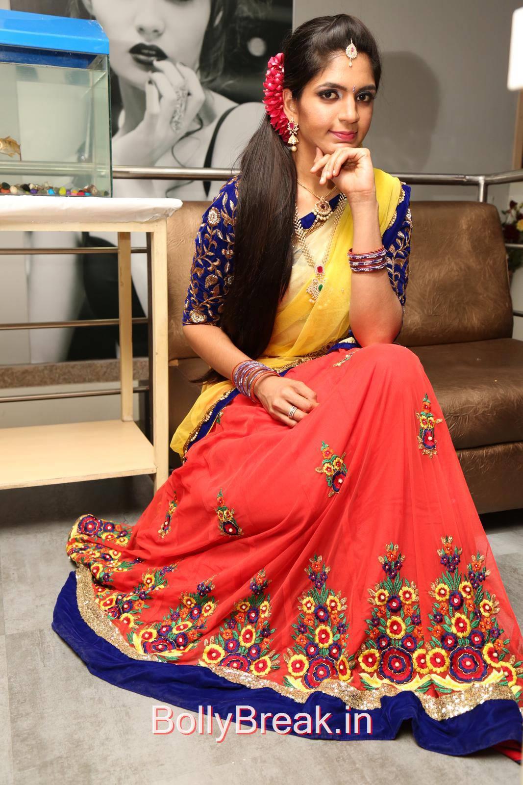 Anusha Photo Gallery with no Watermarks, Anusha Hot Pics from Bridal Dream Make up At Lakme Salon