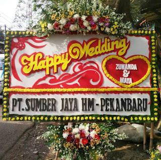 Bunga Papan Happy Wedding (WS-144)