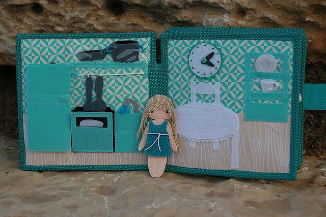 Dollhouse fabric quiet book by TomToy
