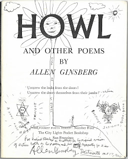 Inscribed title page to Howl