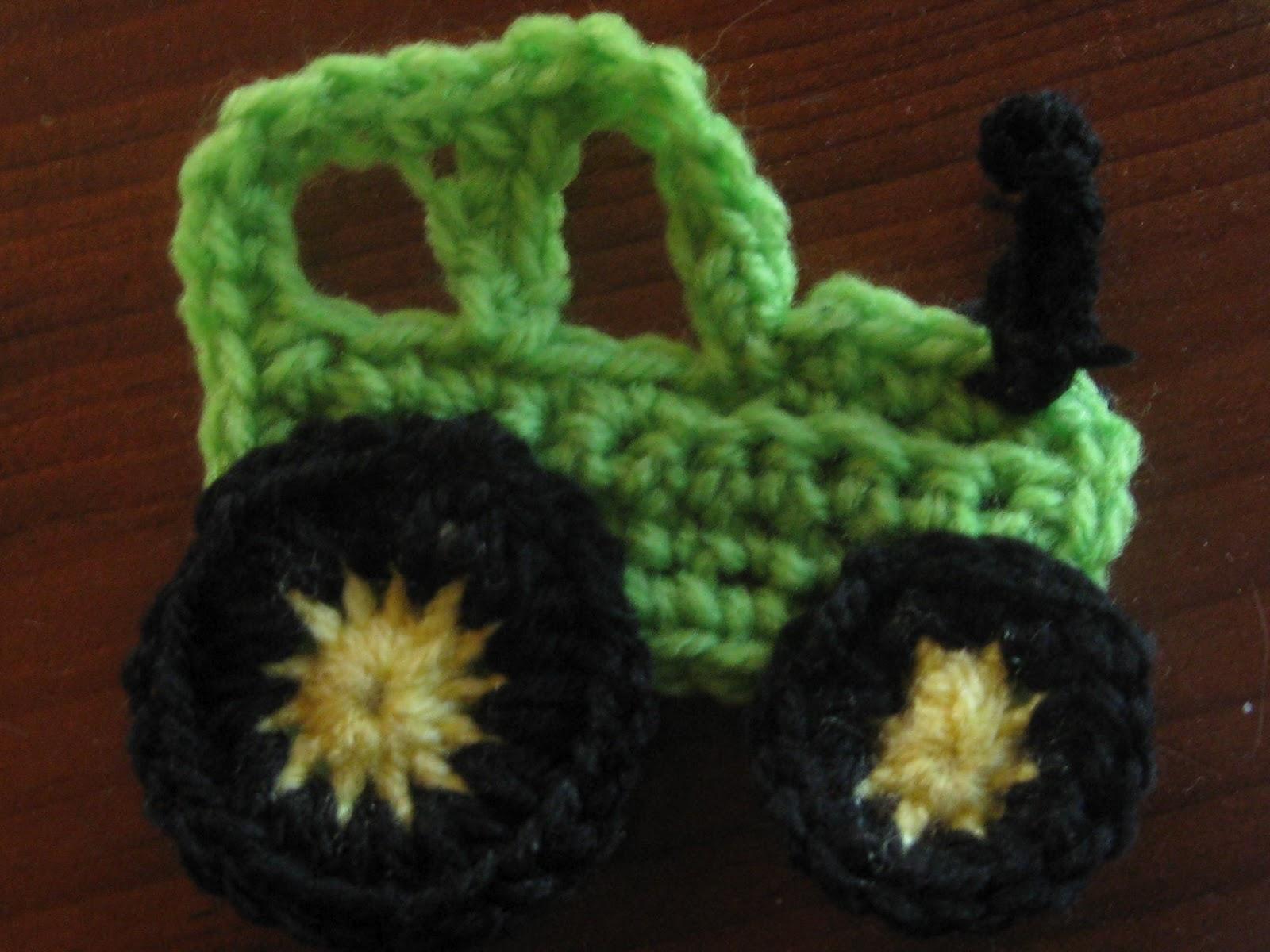 Knot Your Nana s Crochet  Tractor applique 452668e8380