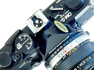 Olympus OM-2n, Top plate closeup