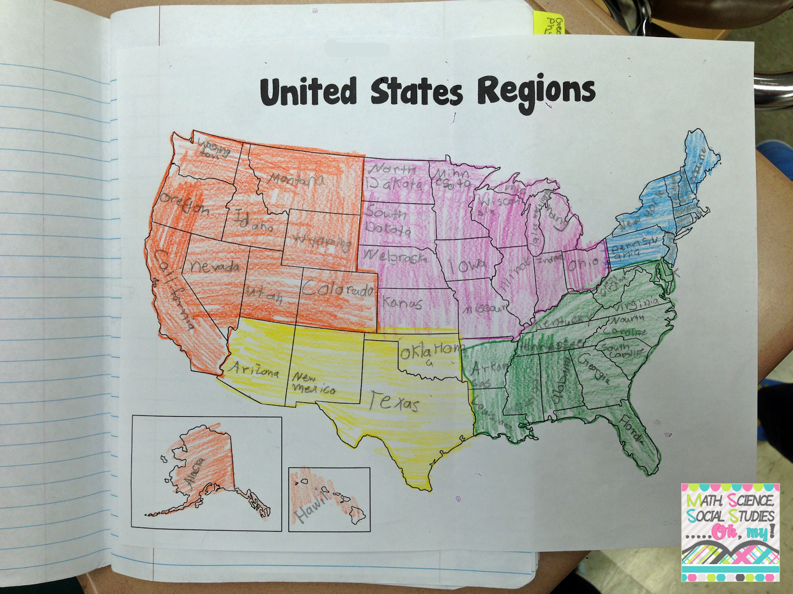 Foldable Friday: US Regions | Technically Speaking with Amy on language regions map, cap regions map, label latitude and longitude, industrial regions map, label the regions,