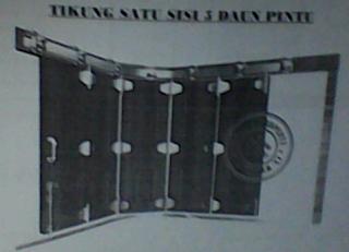 rel pintu garasi wigan lima daun tikung
