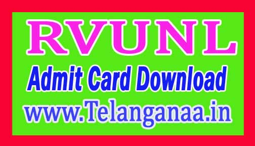 RVUNL Jr Engineer Admit Card-2018 Download