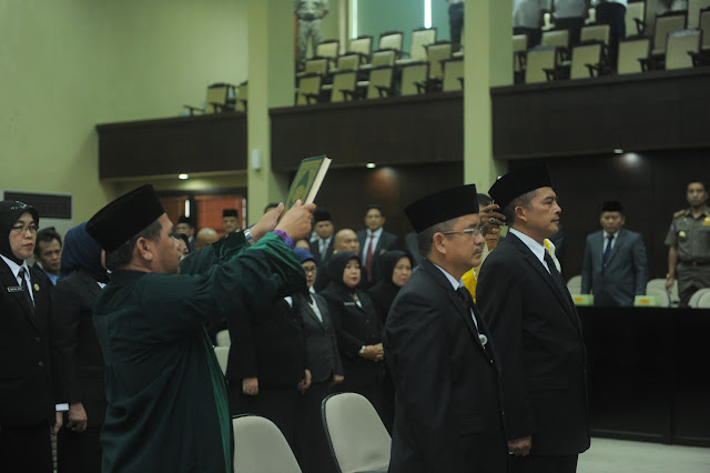 Sekda Sumsel Resmi Lantik Dua Staf Ahli Gubernur