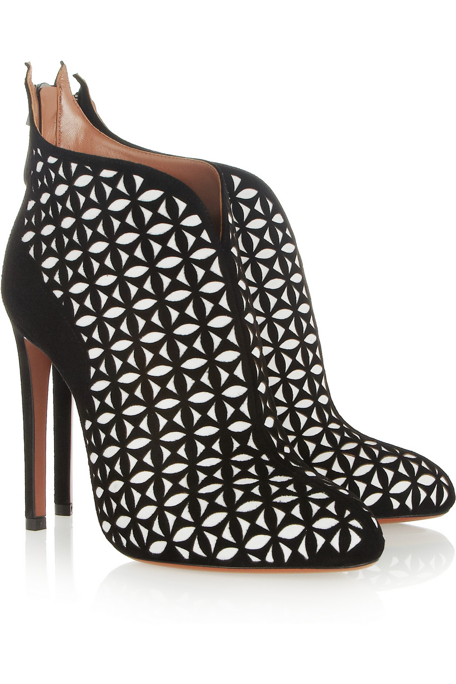Shoe Of The Day Alaia Laser Cut Suede Ankle Boots