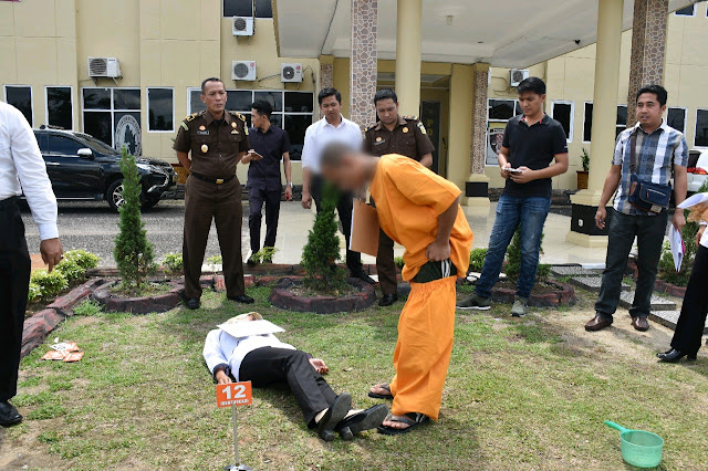 Polres Muba Gelar Rekonstruksi Kasus Pembunuhan Balita