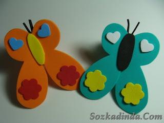 Eva süngeri kelebek yapımı