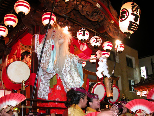 Hannou Matsuri (float parade and night market), Hanno City, Saitama Pref.
