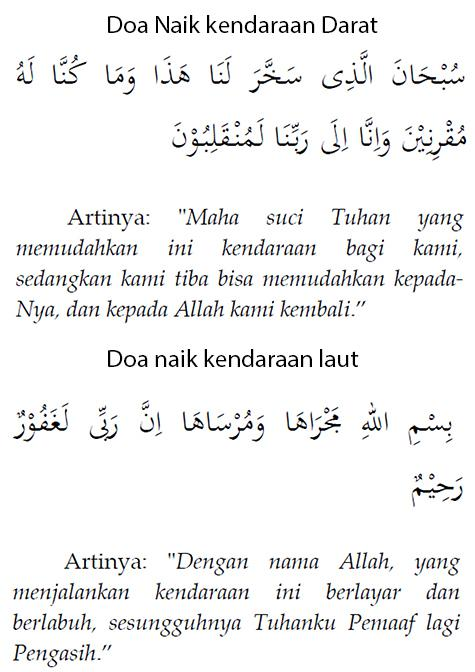 Doa Naik Kendaraan Dan Artinya