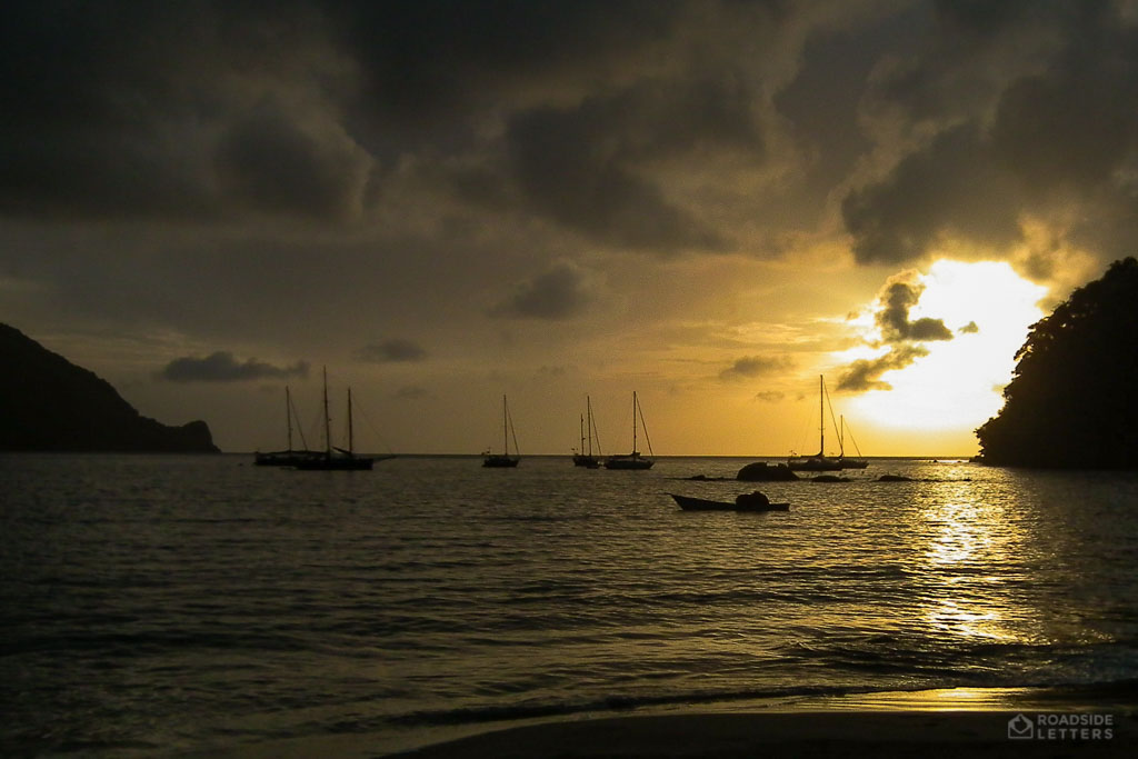 Sunset over Pirate's Bay in Tobago