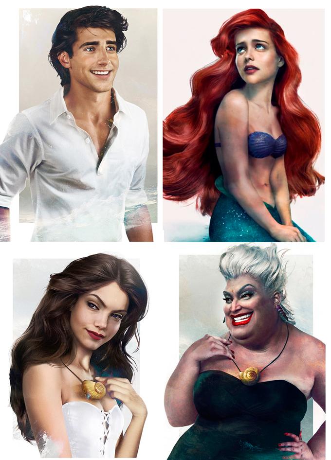 real life disney character little mermaid персонажи Дисней в реальной жизни Русалочка