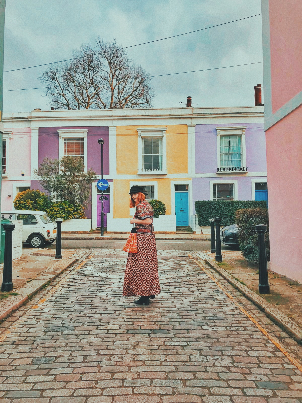 Pastel-coloured buildings in Kentish Town make the perfect Instagram backdrop