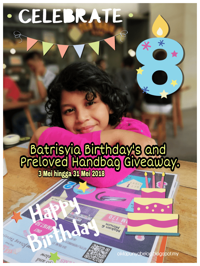 Batrisyia Birthday and Preloved Handbag Giveaway