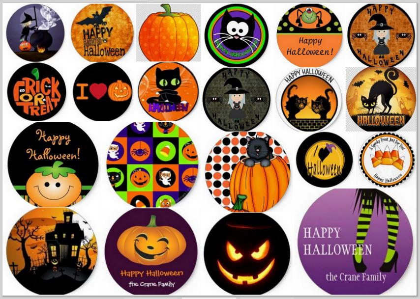 This is a picture of Halloween Stickers Printable for circle