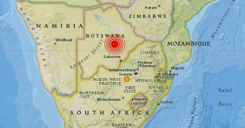 TERREMOTO EN BOTSUANA de 6,5 grados (Hoy Lunes 3 Abril 2017) Sismo Temblor EPICENTRO Moijabana - África Central - En Vivo Twitter - Facebook - USGS