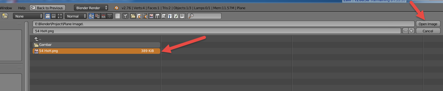 blender how to add image to plane