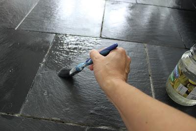 Sealing our slate kitchen floor tiles