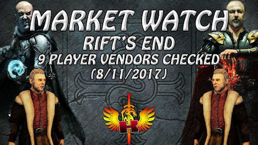 Rift's End, 9 Player Vendors Checked (8/11/2017) • Shroud Of The Avatar Market Watch