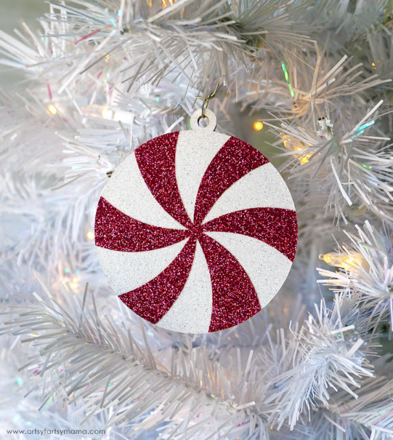 Peppermint Swirl Ornaments