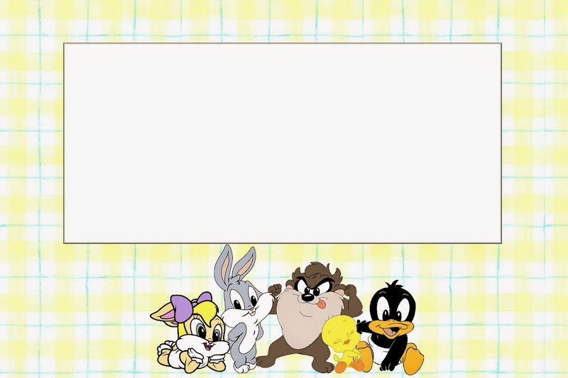 Looney Tunes Babies Free Printable Invitations Oh My Baby