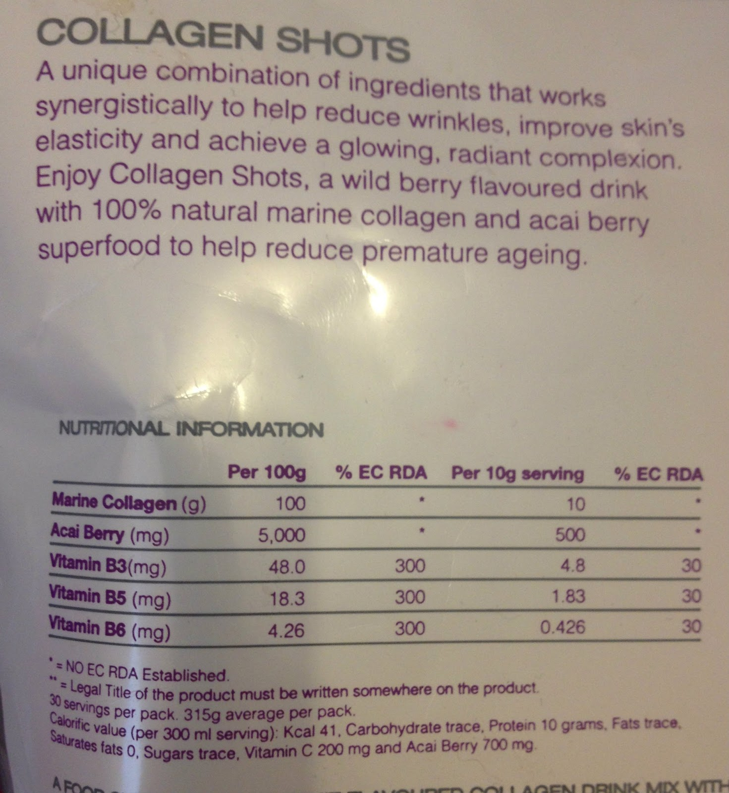 Rejuvenated Collagen Ingredients