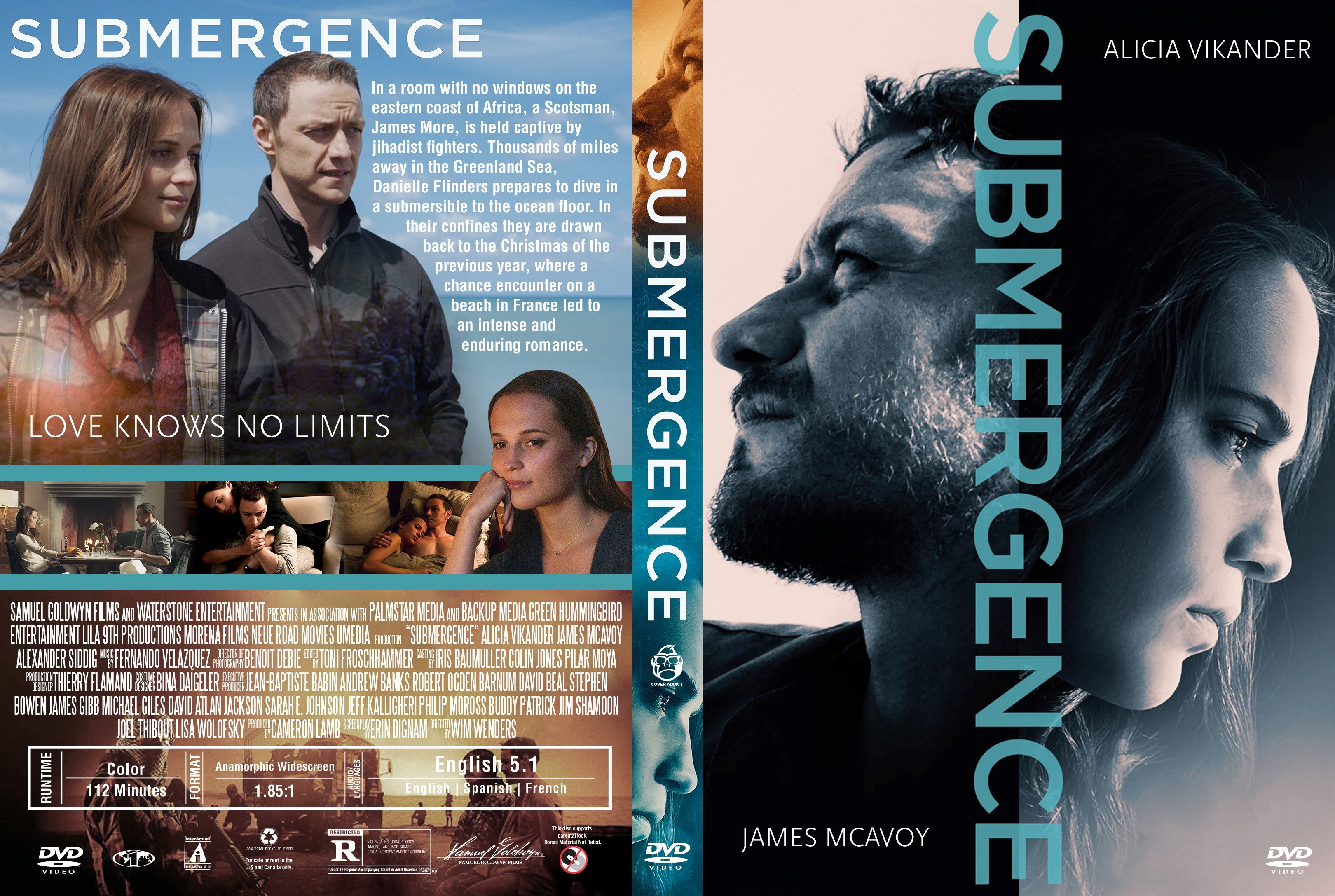 submergence dvd cover cover addict dvd bluray covers and movie